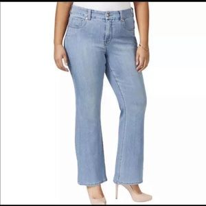 NWT Melissa McCarthy Seven Slimming Flare Jeans 20